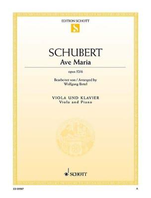 Franz Schubert - Ave Maria, opus 52 n° 6 - Partition - di-arezzo.fr