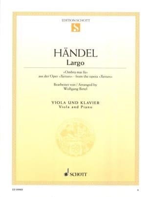 Georg Friedrich Haendel - Largo (Ombra mai fu) extrait de Xerxes - Partition - di-arezzo.fr