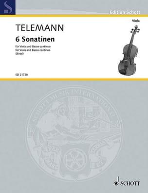 Georg Philipp Telemann - 6 Sonatines - Partition - di-arezzo.fr