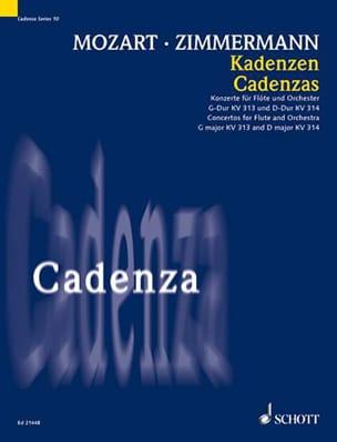 Mozart Wolfgang Amadeus / Zimmermann Bernd Alois - Cadences pour les Concertos de Flûte - Partition - di-arezzo.fr