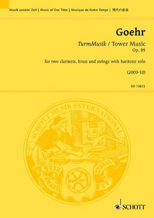 Alexander Goehr - Turmmusik / Tower Music, Op. 85 - Sheet Music - di-arezzo.com