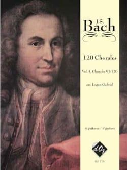 BACH - 120 Chorals volume 4 - Partition - di-arezzo.fr