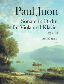 Paul Juon - Sonate en Ré Majeur, opus 15 - Partition - di-arezzo.fr