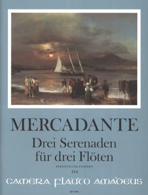 Saverio Mercadante - 3 Sérénades - 3 Flûtes - Partition - di-arezzo.fr