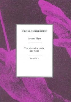 ELGAR - 10 pieces for Violin and Piano - Volume 2 - Sheet Music - di-arezzo.com