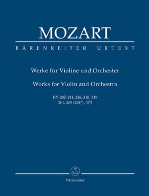 MOZART - Works for Violin and Orchestra - Sheet Music - di-arezzo.co.uk
