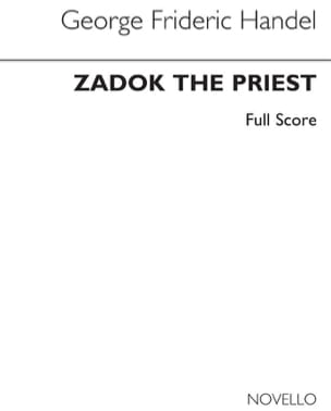 HAENDEL - Zadok The Priest - Partition - di-arezzo.fr