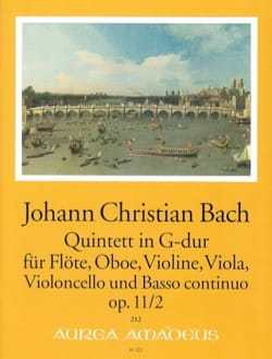 Johann Christian Bach - Quintette G-Dur op. 11 n° 2 - Partition - di-arezzo.fr