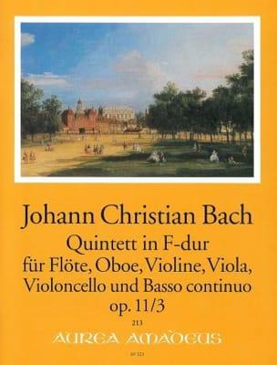 Johann Christian Bach - Quintette F-Dur op 11 n° 3 - Partition - di-arezzo.fr