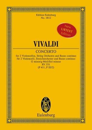 VIVALDI - Concerto en sol mineur, RV 531 - Partition - di-arezzo.fr