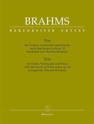 Johannes Brahms - Trio (d'après le Sextuor, op. 18) - Violon, Violoncelle et piano - Partition - di-arezzo.fr