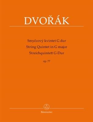 Antonin Dvorak - Quintette à Cordes en Sol Majeur, op. 77 - Partition - di-arezzo.fr