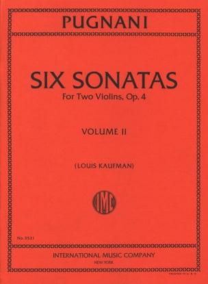 Gaetano Pugnani - 6 sonatas op. 4 vol. 2 - 2 violins - Sheet Music - di-arezzo.com