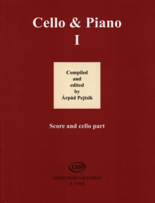 Arpad Pejtsik - Cello & Piano Vol. 1 - Partition - di-arezzo.fr