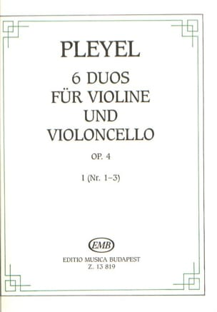 6 Duos for violin and violoncello op. 4 vol. 1 laflutedepan
