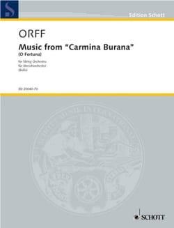 Carl Orff - Music from Carmina Burana (O Fortuna) - score & parts - Partition - di-arezzo.fr