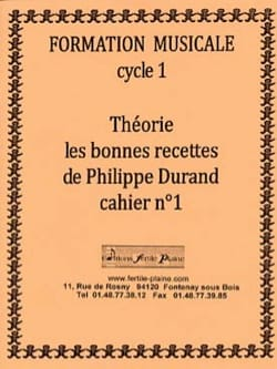 Philippe Durand - Theory, The Good Recipes, Volume 1 - Sheet Music - di-arezzo.com