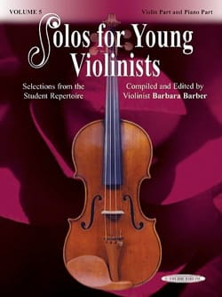 solos for young violonists vol 5 Barbara Barber Partition laflutedepan