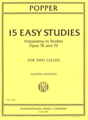 David Popper - 15 easy studies - 2 cellos - Sheet Music - di-arezzo.com