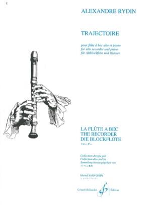 Trajectoire - Flûte à bec alto et piano Alexandre Rydin laflutedepan