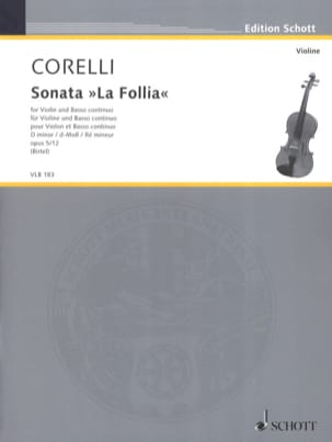 CORELLI - Sonata La Follia, op. 5 n° 12 - Partition - di-arezzo.fr