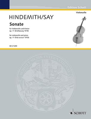 Paul Hindemith - Sonate, opus 11 (version de 1919) - Partition - di-arezzo.fr