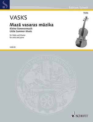 Peteris Vasks - Maza vasaras muzika - alto et piano - Partition - di-arezzo.fr