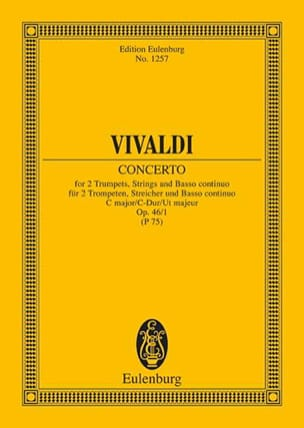 VIVALDI - Konzert C-Dur, Op. 46 No. 1 - 2 Trumpets, Strings and BC - Sheet Music - di-arezzo.co.uk
