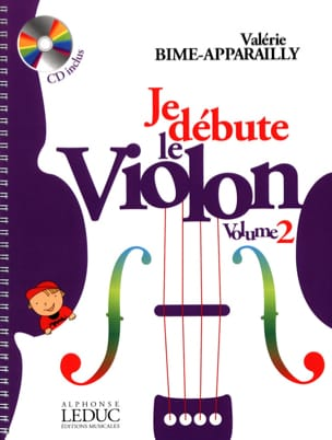 Valérie Bime-Apparailly - I start the violin - Volume 2 - Sheet Music - di-arezzo.co.uk