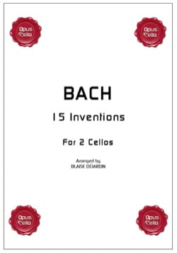 15 inventions pour 2 cellos - BACH - Partition - laflutedepan.com