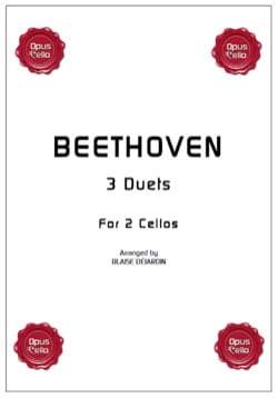 BEETHOVEN - 3 duets for 2 cellos - Sheet Music - di-arezzo.co.uk