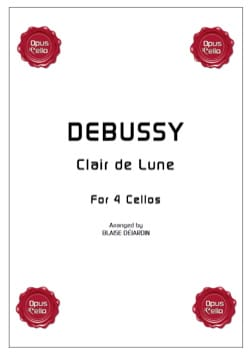 Claude Debussy - Clair de Lune for 4 cellos - Partition - di-arezzo.fr