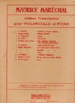 Isaac Albeniz - Interlude de Pepita Jimenez - Violoncelle piano - Partition - di-arezzo.fr