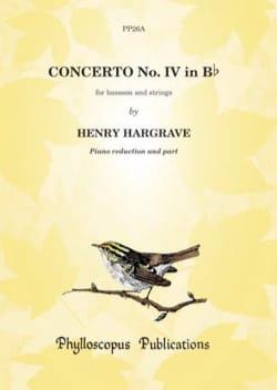 Henry Hargrave - Concerto IV in B Flat - Sheet Music - di-arezzo.com