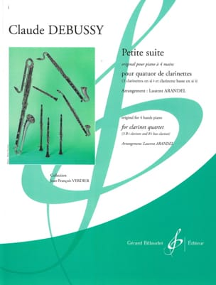 DEBUSSY - Small Suite - 4 Clarinets - Sheet Music - di-arezzo.co.uk