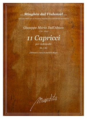 Abaco Giuseppe Maria Dall' - 11 Capricci - Partition - di-arezzo.fr