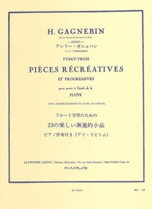 Henri Gagnebin - 23 Pièces récréatives - Partition - di-arezzo.fr