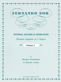 Fernando Sor - Estudios, Lecciones - Ejercicios - Partitura - di-arezzo.es