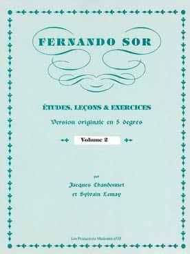 Fernando Sor - Studi, lezioni - Esercizi Vol. 2 - Partitura - di-arezzo.it