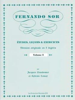 Fernando Sor - Estudios, Lecciones - Ejercicios vol. 3 - Partitura - di-arezzo.es