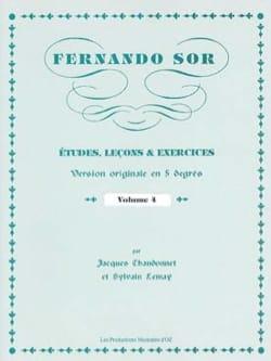 Fernando Sor - Estudios, Lecciones - Ejercicios vol. 4 - Partitura - di-arezzo.es