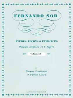 Fernando Sor - Estudios, Lecciones - Ejercicios vol. 5 - Partitura - di-arezzo.es