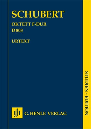 SCHUBERT - Octeto en Fa Mayor D. 803 Op. Posth 166 - Partition - di-arezzo.es