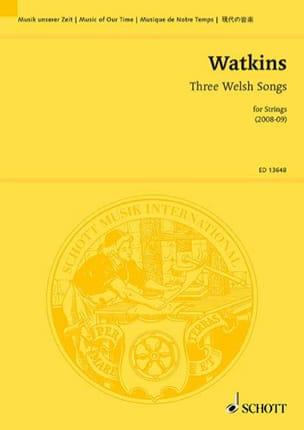 Three Welsh Songs - Conducteur Huw Watkins Partition laflutedepan