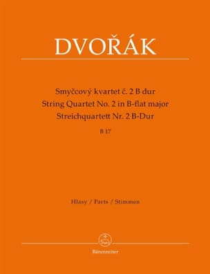 DVORAK - String Quartet No. 2 in Bb Major - Parts - Sheet Music - di-arezzo.co.uk