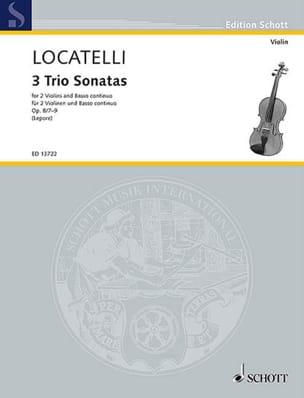 Sonates en Trio op. 8 n° 7 à 9 - 2 Violons et BC - laflutedepan.com