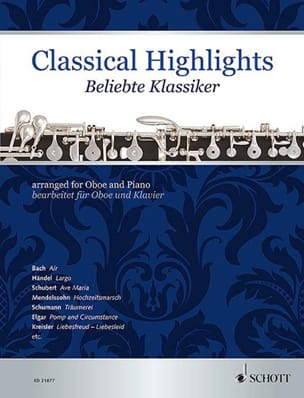 Classical Highlights - Hautbois et piano - laflutedepan.com