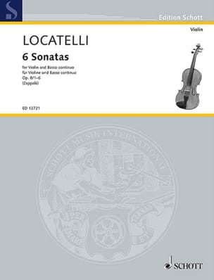 Pietro Antonio Locatelli - 6 Sonatas, op. 8 n ° 1 to 6 - Violon and BC - Sheet Music - di-arezzo.co.uk