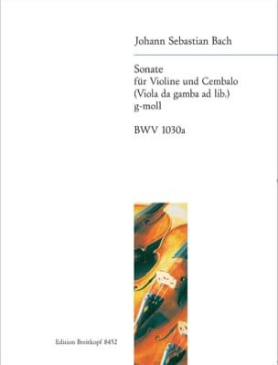 Sonate g-moll BWV 1030a - Violon et Clavecin - BACH - laflutedepan.com