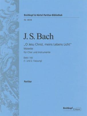 BACH - O Jesu Christ, meins Lebens Licht, BWV 118 - Conducteur - Partition - di-arezzo.fr